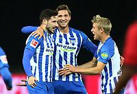 Mathew Leckie 1:0, Niklas Stark, Per Skjelbred  / Freude / Emotion / celebrationd / celebration   1:0   <br /> / Sport / Football Football / DFL 1. Bundesliga Bundesliga  /  2017/2018 / 20.09.2017 / Hertha BSC Berlin vs. Bayer 04 Leverkusen 170920009 /  *** Local Caption *** © pixathlon<br /> Contact: +49-40-22 63 02 60 , info@pixathlon.de