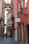 Germany, Bavaria, Upper Palatinate, Regensburg: Old Town Lane