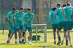 22.09.2020, Trainingsgelaende am wohninvest WESERSTADION - Platz 12, Bremen, GER, 1.FBL, Werder Bremen Training<br /> <br /> <br /> Milot Rashica (Werder Bremen #07)<br /> Ilia Gruev (Werder Bremen #28)<br /> Felix Agu (Werder Bremen / Neuzugang 17)<br /> Jean Manuel Mbom (Werder Bremen 34)<br /> <br /> <br /> Foto © nordphoto / Kokenge