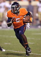 Sept. 3, 2011 - Charlottesville, Virginia - USA; Virginia Cavaliers quarterback David Watford (5) runs with the ball during an NCAA football game against William & Mary at Scott Stadium. Virginia won 40-3. (Credit Image: © Andrew Shurtleff