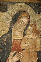 Italien, Umbrien, Dom in Assisi, Fresken aus dem 14. Jh. in der Krypta