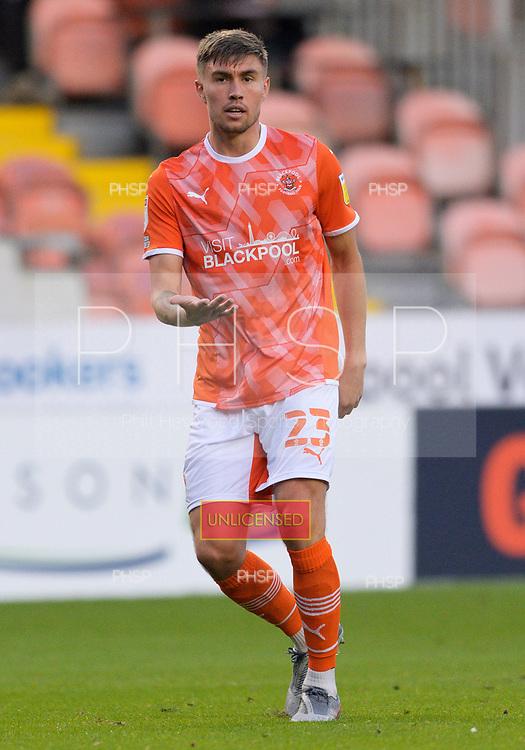 24/08/2021 Carabao Cup 2nd Round Blackpool v Sunderland <br /> <br /> Daniel Gretarsson in action for Blackpool