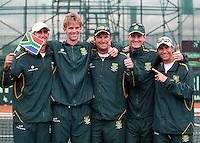 10-07-11, Tennis, South-Afrika, Potchefstroom, Daviscup South-Afrika vs Netherlands,  Het Afrikaanse team heeft de overwinning