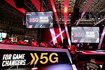 5G logo is seen at NTT Docomo booth during the Tokyo Game Show (TGS) 2019 in Makuhari, Chiba Prefecture, Japan on September 12, 2019. A total of 655 companies from 40 countries exhibited their latest video games and software programs during the four-day trade show. (Photo by Naoki Nishimura/AFLO)