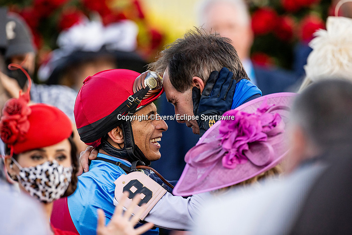MAY 01, 2021:  John Velazquez after winning the Kentucky Derby at Churchill Downs in Louisville, Kentucky on May 1, 2021. EversEclipse Sportswire/CSM