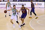 League ACB-ENDESA 2020/2021.Game 15.<br /> FC Barcelona vs Club Joventut Badalona: 88-74.<br /> Ante Tomic vs Pierre Oriola.