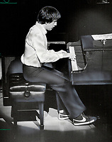 1982 FILE PHOTO - ARCHIVES -<br /> <br /> Thomson Hall sell-out: Quebec pianist-composer Andre Gagnon enjoyed the enthusiasm of fans who packed Roy Thomson Hall last night for a concert of his popular favorites.<br /> <br /> 1982<br /> <br /> PHOTO :  Dick Darrell - Toronto Star Archives - AQP