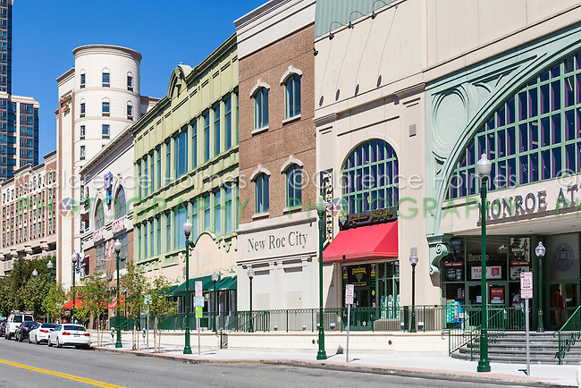 New Roc City, an entertainment, retail and residential complex in downtown New Rochelle, New York.