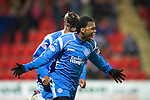 St Johnstone v Inverness Caley Thistle....02.01.11  .Collin Samuel celebrates his goal .Picture by Graeme Hart..Copyright Perthshire Picture Agency.Tel: 01738 623350  Mobile: 07990 594431