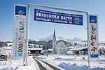 Austria, Tyrol, Reith near Kitzbuhel at Brixen Valley: on the outskirts of Kitzbuhel, at background Kitzbuhel Horn mountain | Oesterreich, Tirol, Reith bei Kitzbuehel im Brixental vorm Kitzbueheler Horn