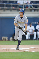 August 20, 2008: Tri-City Dust Devils' Erik Wetzel works a walk during a Northwest League game against the Yakima Bears at Yakima County Stadium in Yakima, Washington.