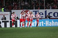 Torjubel FSV Mainz 05 beim 1:0 - Torsch¸tz Leon Andreasen (M.) mit Fabian Gerber, Markus Feulner, Petr Ruman, etc. +++ Marc Schueler +++ 1. FSV Mainz 05 vs. Borussia Dortmund, 31.01.2007, Stadion am Bruchweg Mainz +++ Bild ist honorarpflichtig. Marc Schueler, Kreissparkasse Grofl-Gerau, BLZ: 50852553, Kto.: 8047714