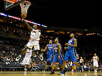 Charlotte Bobcats forward Gerald Wallace (3) against the Orlando Magic during an NBA basketball game  at Time Warner Cable Arena in Charlotte, NC.