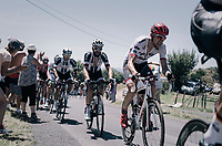 Bauke Mollema (NED/Trek-Segafredo) up the Montée de Naves d'Aubrac (Cat1/1058m/8.9km/6.4%)<br /> <br /> 104th Tour de France 2017<br /> Stage 15 - Laissac-Sévérac l'Église › Le Puy-en-Velay (189km)