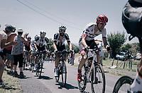 Bauke Mollema (NED/Trek-Segafredo) up the Montée de Naves d'Aubrac (Cat1/1058m/8.9km/6.4%)<br /> <br /> 104th Tour de France 2017<br /> Stage 15 - Laissac-Sévérac l'Église › Le Puy-en-Velay (189km)