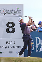 Saturday 30th May 2015; Graeme McDowell, Northern Ireland, on the 8th tee<br /> <br /> Dubai Duty Free Irish Open Golf Championship 2015, Round 3 County Down Golf Club, Co. Down. Picture credit: John Dickson / SPORTSFILE
