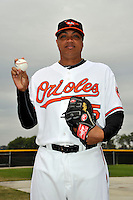 Feb 27, 2010; Tampa, FL, USA; Baltimore Orioles  pitcher Alfredo Simon (55) during  photoday at Ed Smith Stadium. Mandatory Credit: Tomasso De Rosa