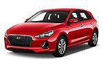 2018 Hyundai i30 Twist 5 Door Hatchback angular front stock photos of front three quarter view