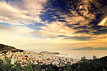 View of Kavala, Greece from above the city