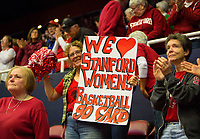 STANFORD, CA - March 17, 2018: Fans at Maples Pavilion. The Stanford Cardinal defeated the Gonzaga Bulldogs 82-68 to advance to the second round of the NCAA tournament.
