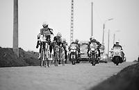 Ronde van Vlaanderen 2013..Marcel Sieberg (DEU) leading the race down the Steenbeekdries