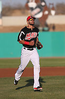 Zach Cone (22) of the High Desert Mavericks during a game against the Inland Empire 66ers at Mavericks Stadium on May 6, 2015 in Adelanto, California. Inland Empire defeated High Desert, 10-4. (Larry Goren/Four Seam Images)