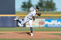 Peoria Javelinas relief pitcher Matt Walker (31), of the Seattle Mariners organization, follows through on his delivery during an Arizona Fall League game against the Scottsdale Scorpions at Peoria Sports Complex on October 18, 2018 in Peoria, Arizona. Scottsdale defeated Peoria 8-0. (Zachary Lucy/Four Seam Images)