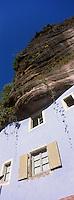 Europe/France/Alsace/67/Bas-Rhin/Graufthal : Maisons troglodytiques -Maison des Rochers -Parc Naturel Régional des Vosges du Nord