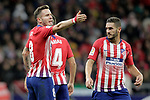 Atletico de Madrid's Saul Niguez (l) and Koke Resurreccion during La Liga match. October 27,2018. (ALTERPHOTOS/Acero)