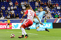Harrison, NJ - Thursday Sept. 15, 2016: Gonzalo Veron, Fabricio Silva during a CONCACAF Champions League match between the New York Red Bulls and Alianza FC at Red Bull Arena.