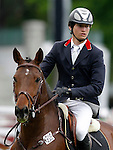 Spain's jockey Alvaro Sanchez-Arcilla with the horse Oki Boy during 102 International Show Jumping Horse Riding, King's College Trophy. May, 20, 2012. (ALTERPHOTOS/Acero)