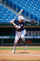 Christian Moore (27) of Suffield Academy in Brooklyn, NY during the Perfect Game National Showcase at Hoover Metropolitan Stadium on June 19, 2020 in Hoover, Alabama. (Mike Janes/Four Seam Images)