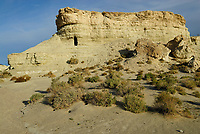 Limestone cliffs near Shoshone town near Death Valley, California, USA