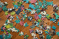 Jigsaw puzzle pieces.