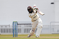 Hashim Amla of Surrey drives through the covers during Surrey CCC vs Hampshire CCC, LV Insurance County Championship Group 2 Cricket at the Kia Oval on 30th April 2021