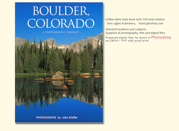 Being selected to photograph Boulder was a thrill and I shot 100 days in a row to get it done on schedule.