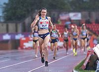23rd May 2021; Gateshead International Stadium, Gateshead, Tyne and Wear, England; Muller Diamond League Grand Prix Athletics, Gateshead; Laura Muir wins the women's 1500 metres