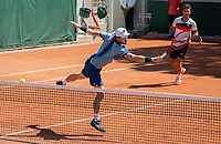 Paris, France, 1 june 2021, Tennis, French Open, Roland Garros, First round doubles match:  Jean-Julien Rojer (NED) and Wesley Koolhof (NED) (L)<br /> Photo: tennisimages.com