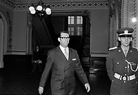 Camil Samson lors du<br /> Retour des elus a l'Assemblee nationale <br /> , le 23 février 1971<br /> <br /> Photographe : Photo Moderne<br /> - agence Quebec Presse