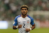 Mexico City, Mexico - Sunday June 11, 2017: DeAndre Yedlin during a 2018 FIFA World Cup Qualifying Final Round match with both men's national teams of the United States (USA) and Mexico (MEX) playing to a 1-1 draw at Azteca Stadium.