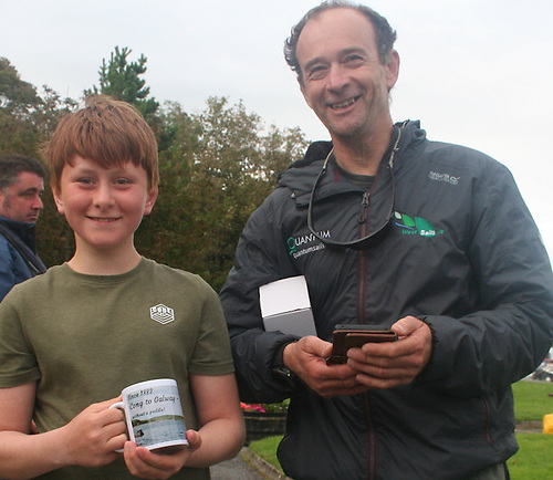 Father and son duo of Yannick and Seán Lemonnier of Galway Bay Sailing Club