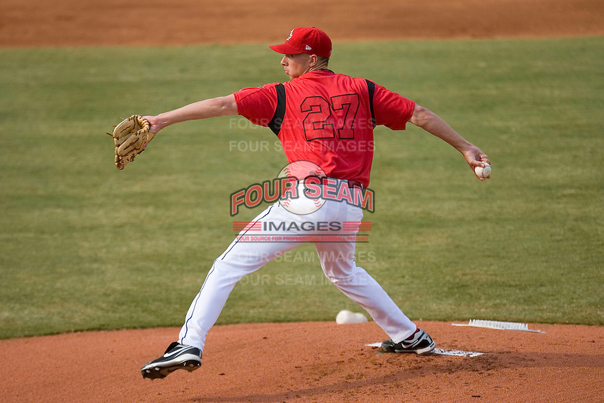 Starting pitcher Matt Kniginyzky #27 of Team Canada in action versus Team USA at the USA Baseball National Training Center, September 4, 2009 in Cary, North Carolina.  (Photo by Brian Westerholt / Four Seam Images)
