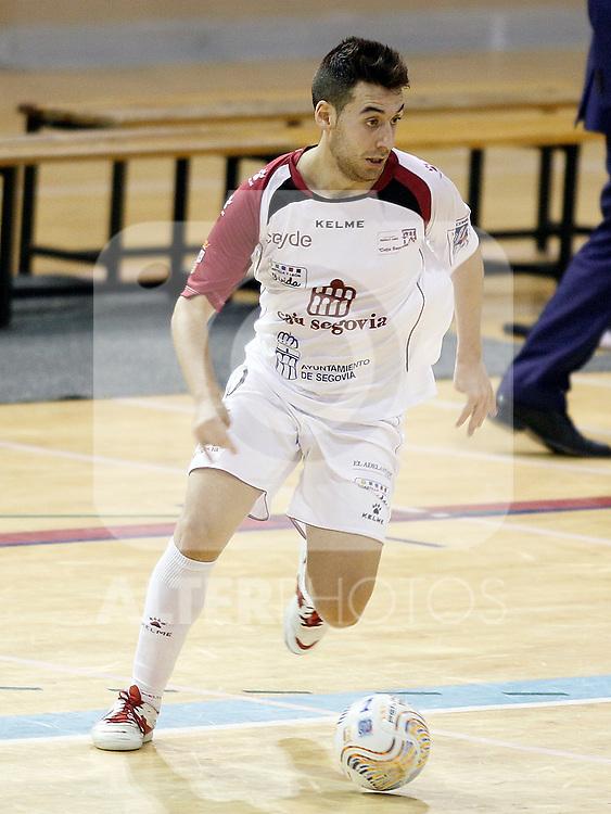 Caja Segovia's Sergio Gonzalez during Spanish National Futsal League match.November 24,2012. (ALTERPHOTOS/Acero)
