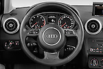 Steering wheel view of a 2014 Audi A1 Ambition 3 Door Hatchback 2WD