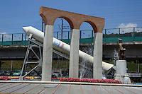 Colleferro.Monumento dedicato all' ARIANE.I booster vengono prodotti nello stabilimento AVIO...
