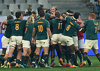 Alun Wyn Jones - British & Irish Lions captain appears to take onthe whole South Africa team during a fracas.<br /> South Africa v British & Irish Lions, 2nd Test, Cape Town Stadium, Cape Town, South Africa,  Saturday 31st July 2021. <br /> Please credit: FOTOSPORT/DAVID GIBSON