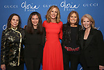 """Emily Mann, Diane Paulus, Christine Lahti, Gloria Steinem and Daryl Roth attends the Opening Night Performance After Party for """"Gloria: A Life"""" on October 18, 2018 at the Gramercy Park Hotel in New York City."""