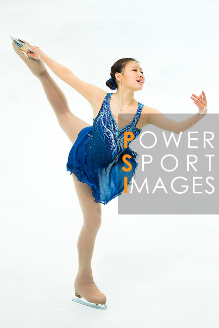 TAIPEI, TAIWAN - JANUARY 23:  Hae Jin Kim of South Korea performs her routine at the Ladies Short Program event during the Four Continents Figure Skating Championships on January 23, 2014 in Taipei, Taiwan.  Photo by Victor Fraile / Power Sport Images *** Local Caption *** Hae Jin Kim