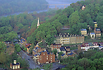 Historic village of Harpers Ferry, West Virginia, USA was the scene of John Brown's raid on October 16, 1859, a precursor of the Civil War.