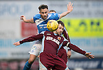 St Johnstone v Stenhousemuir…21.01.17  McDiarmid Park  Scottish Cup<br />Keith Watson gets above Vincent Berry<br />Picture by Graeme Hart.<br />Copyright Perthshire Picture Agency<br />Tel: 01738 623350  Mobile: 07990 594431
